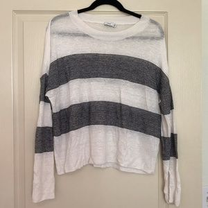 Vince Lightweight Striped Crew Neck Sweater